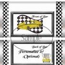 Faux NASCAR Yellow  ~ Standard 1.55 oz Candy Bar Wrapper  SOE