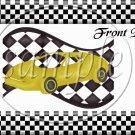 Faux NASCAR Yellow ~ Quart Glass Jar