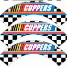 Faux NASCAR  Personalized ~  Cupcake Wrappers ~ Set of 1 Dozen