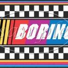 Faux NASCAR Boring ~ Pint Glass Jar