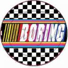 Faux NASCAR  Boring ~ Cupcake Picks & Toppers