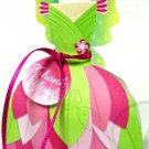 Pink & Green Fairy Dress ~ Party Favor Totes, Bags & Boxes