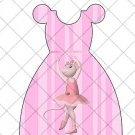 Pink Faux Angelina Ballerina Ballet Party Favor Dress ~ Party Favor Totes, Bags & Boxes