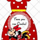 Red Polka Dot Faux Minnie Mouse Party Favor Dress #2 ~ Party Favor Totes, Bags & Boxes