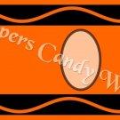 Crayon Orange Letters & Number Set ~  MINI Candy Bar Wrapper