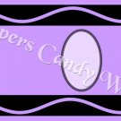 Crayon Purple Letters & Number Set ~  MINI Candy Bar Wrapper