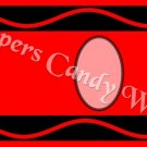 Crayon Red Letters & Number Set ~  MINI Candy Bar Wrapper