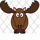 Moose ~  Cupcake Pick & Toppers ~ Set of 1 Dozen