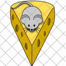 Mouse on Cheese ~  Cupcake Pick & Toppers ~ Set of 1 Dozen