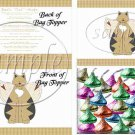 Cat - itude Tan ~  Treat Bag Topper