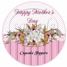 Cherry Blossoms Mother's Day ~  Cupcake Pick & Toppers ~ Set of 1 Dozen