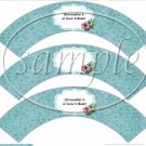 Touch of Blue ~  Cupcake Wrappers ~ Set of 1 Dozen