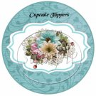 Touch of Blue ~  Cupcake Pick & Toppers ~ Set of 1 Dozen