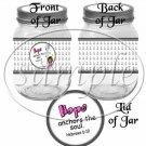 Hope Anchors The Soul Hebrews 6:19   AA Girl ~  Pint Glass Jar