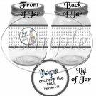 Hope Anchors The Soul Hebrews 6:19   Caucasian  Boy ~  Quart Glass Jar