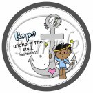 Hope Anchors The Soul Hebrews 6:19 AA Boy  ~  Cupcake Pick & Toppers ~ Set of 1 Dozen