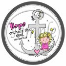 Hope Anchors The Soul Hebrews 6:19 Caucasian Girl ~  Cupcake Pick & Toppers ~ Set of 1 Dozen