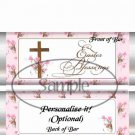 Easter Blessings Silver Foil ~ Standard 1.55 oz Candy Bar Wrapper  SOE
