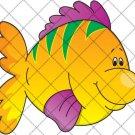 Flounder Fish Yellow ~  Cupcake Pick & Toppers ~ Set of 1 Dozen