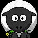 Black & White Sheep ~  Cupcake Pick & Toppers ~ Set of 1 Dozen