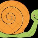 Snail Orange ~  Cupcake Pick & Toppers ~ Set of 1 Dozen