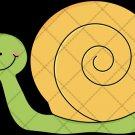 Snail Yellow ~  Cupcake Pick & Toppers ~ Set of 1 Dozen