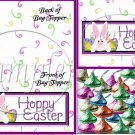 Swirly Hoppy Easter ~  Treat Bag Topper