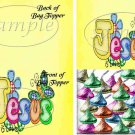 Jesus Is Love Yellow ~ Treat Bag Topper
