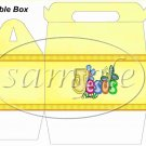 Jesus is Love Yellow ~ Gable Gift or Snack Box