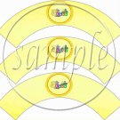 Jesus Is Love Yellow 1  ~  Cupcake Wrappers ~ Set of 1 Dozen