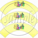 Jesus Is Love Yellow 2 ~  Cupcake Wrappers ~ Set of 1 Dozen