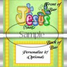 Jesus Is Love Green ~ Standard 1.55 oz Candy Bar Wrapper  SOE