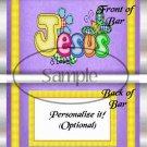 Jesus Is Love Purple ~ Standard 1.55 oz Candy Bar Wrapper  SOE