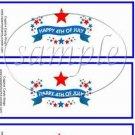 4th of July ~ Paper Napkin Rings ~ 1 Dozen