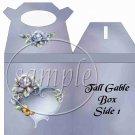 Porcelain Rose ~ TALL Gable Gift or Snack Box