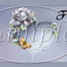 Porcelain Rose ~  Pint Glass Jar