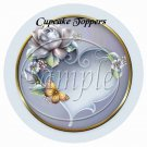 Porcelain Rose ~  Cupcake Pick & Toppers ~ Set of 1 Dozen