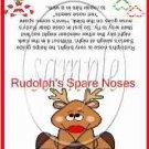 Reindeer Noses ~ Treat Bag Topper 1 Dozen