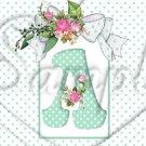Aqua Rose ~  Alphabet MINI Candy Bar Wrapper