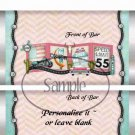 Route 66 Aqua  ~ Standard 1.55 oz Candy Bar Wrapper  SOE
