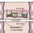 Route 66 Pink  ~ Standard 1.55 oz Candy Bar Wrapper  SOE