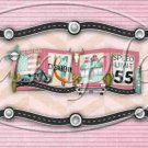 Route 66 Pink  ~  Pint Glass Jar