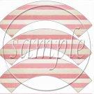 Born To Ride Flag Stripes ~  Cupcake Wrappers ~ Set of 1 Dozen