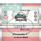 Born To Ride Flag Motorcycle ~ Standard 1.55 oz Candy Bar Wrapper  SOE