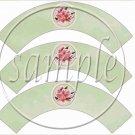 Stargazer Lily ~  Cupcake Wrappers ~ Set of 1 Dozen