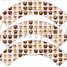 Friends With Chocolate ~  Cupcake Wrappers ~ Set of 1 Dozen