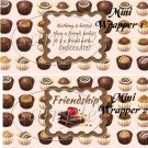 Friends With Chocolate  ~ MINI Candy Bar Wrappers