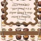 Friends With Chocolate ~ Birthday ~ MINI Matchbook Nail File COVER ONLY