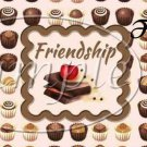 Friends With Chocolate ~  Pint Glass Jar