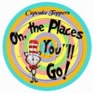 Oh, The Place You'll Go!  Dr Seuss Inspired ~  Cupcake Pick & Toppers ~ Set of 1 Dozen